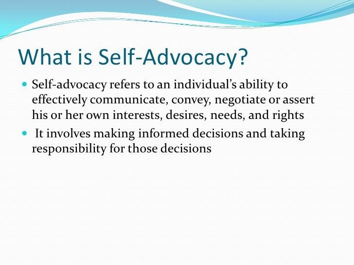 Self Advocacy