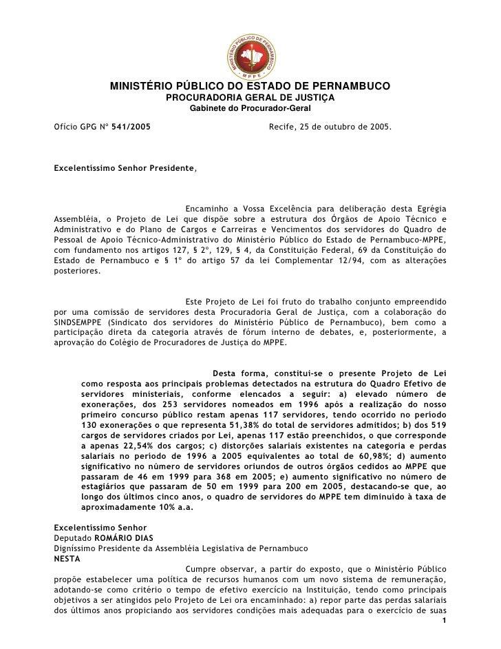 MINISTÉRIO PÚBLICO DO ESTADO DE PERNAMBUCO                                                       PROCURADORIA GERAL DE JUS...