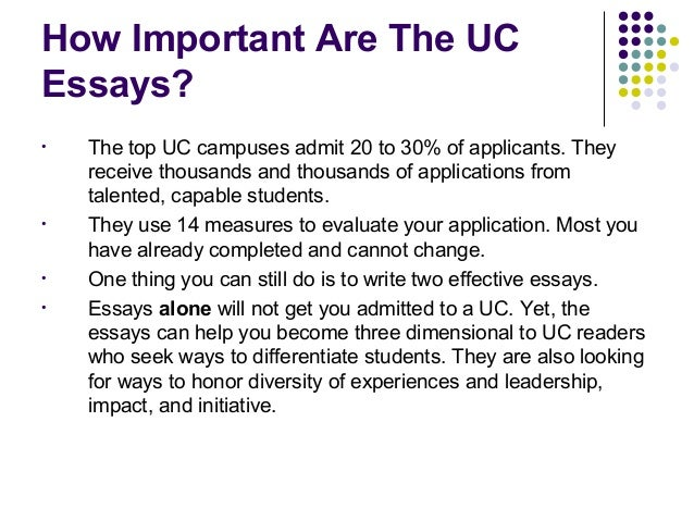 prompt for uc essays Note: starting with the fall 2017 application, the university of california replaced  its essay section (formerly called the personal statement.
