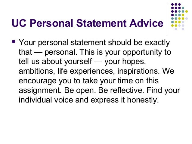 Video admissions essay personal statement