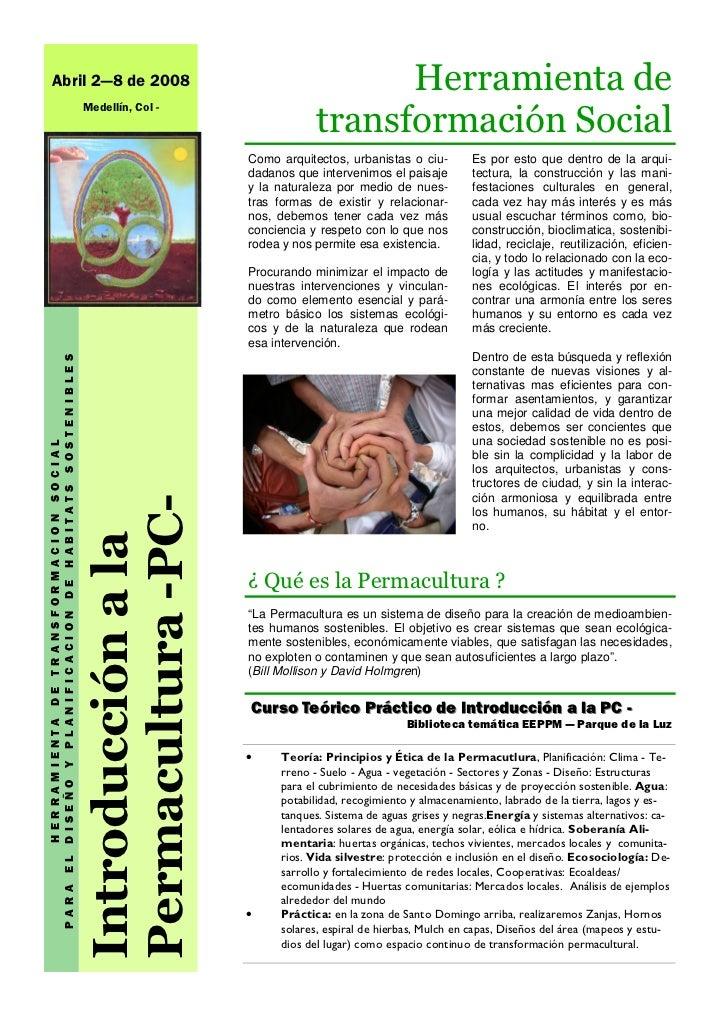 Abril 2—8 de 2008                                                                           Herramienta de                ...