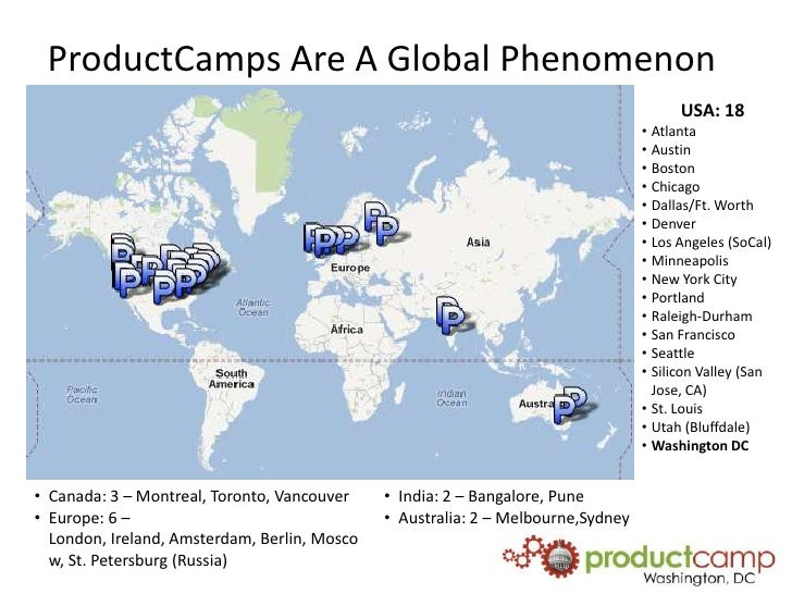 ProductCamps are a global phenomenon