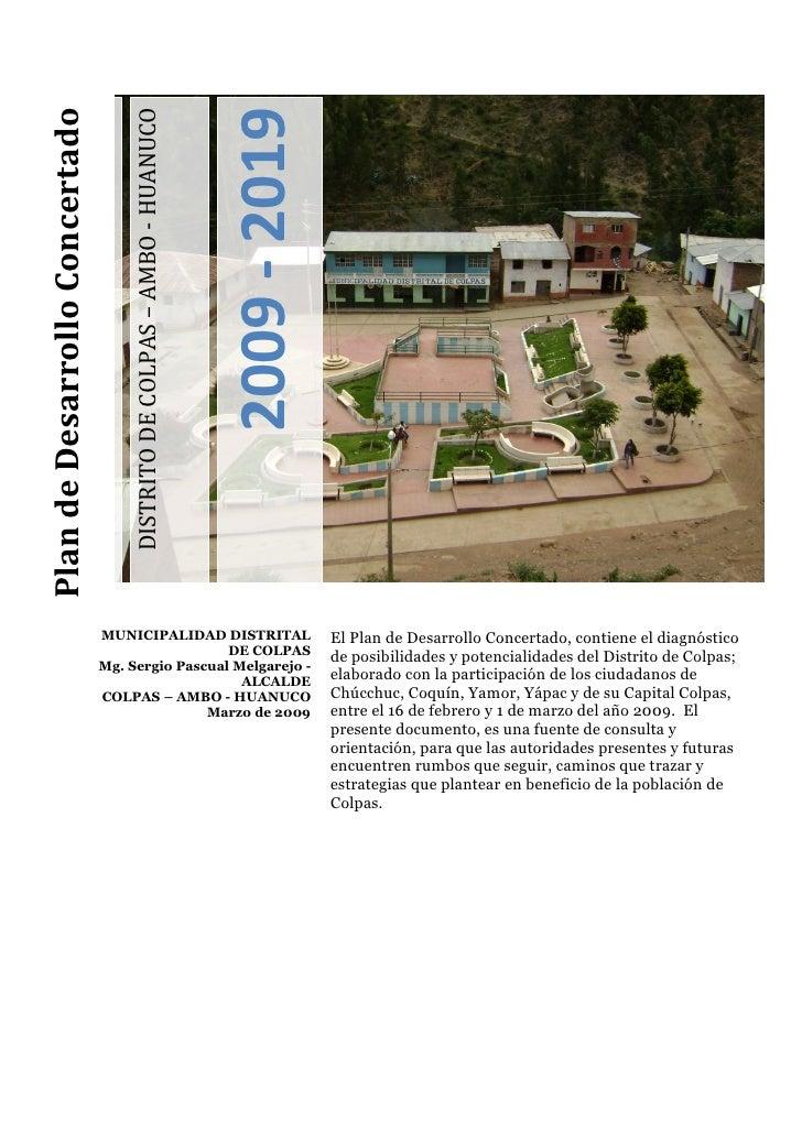 Plan de Desarrollo Concertado                                                                               2009 - 2019   ...