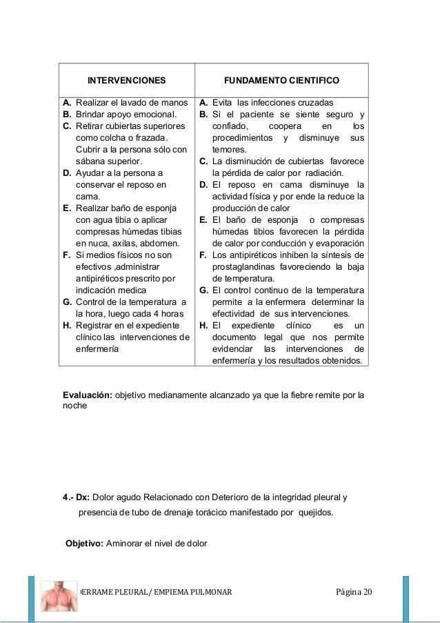 Baño De Regadera Fundamentos De Enfermeria:Pce serv-medicina- DERRAME PLEURAL