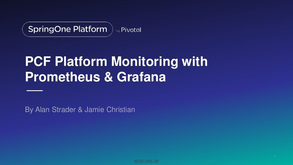 pcf platform monitoring with prometheus and grafana. Black Bedroom Furniture Sets. Home Design Ideas