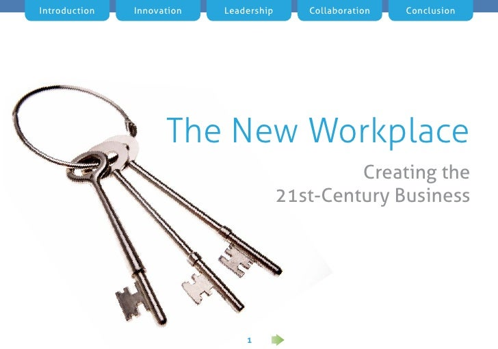 Introduction   Innovation   Leadership      Collaboration   Conclusion                     The New Workplace              ...