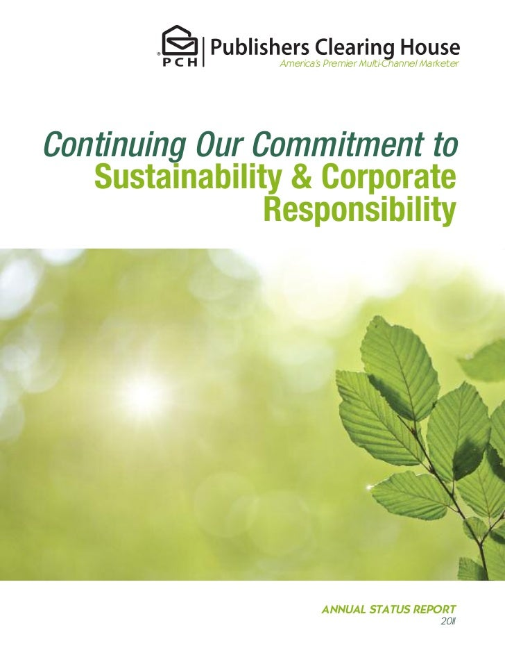 Pch 2011 sustainability report