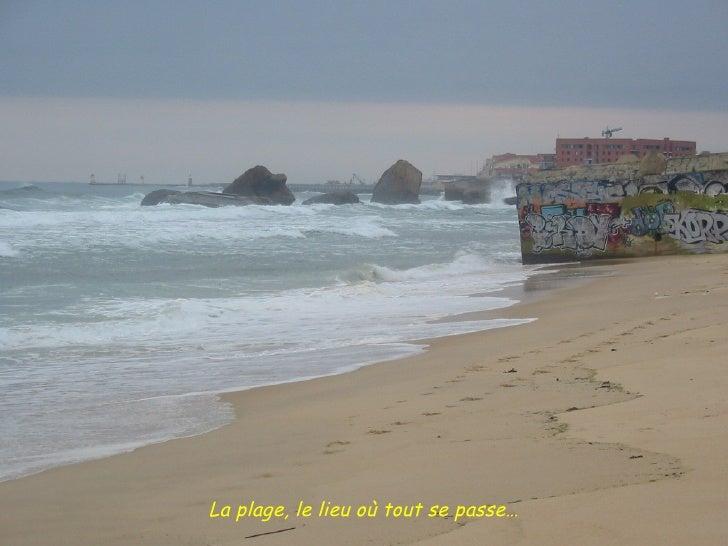 La plage, le lieu où tout se passe…