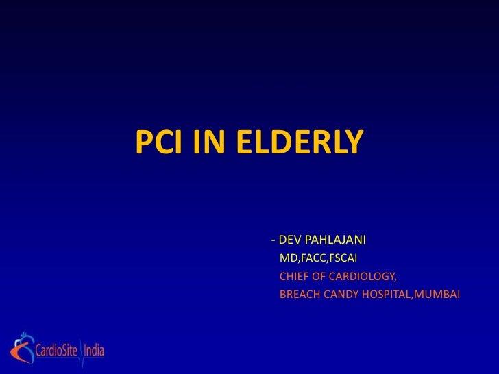 PCI in elderly patients