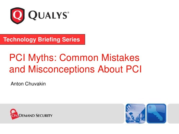 PCI DSS: Myths, Mistakes, Misconceptions 2009 - TEASER Version