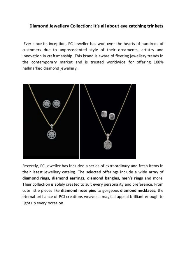 Pcjeweller diamond-collection- It's all about eye catching trinkets