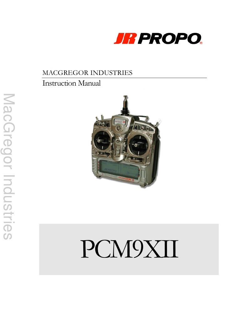 MACGREGOR INDUSTRIES                        Instruction Manual MacGregor Industries                                       ...
