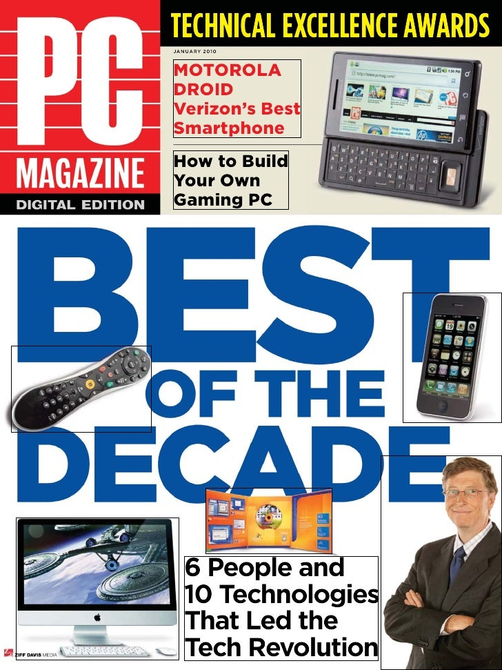 TECHNICAL EXCELLENCE AWARDSJANUARY 2010MotoroladroidVerizon's Bestsmartphonehow to BuildYour ownGaming Pc  6 People and  1...