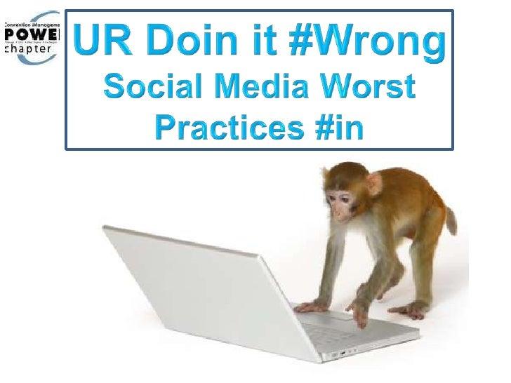 PCMA Social Media UR Doing it Wrong