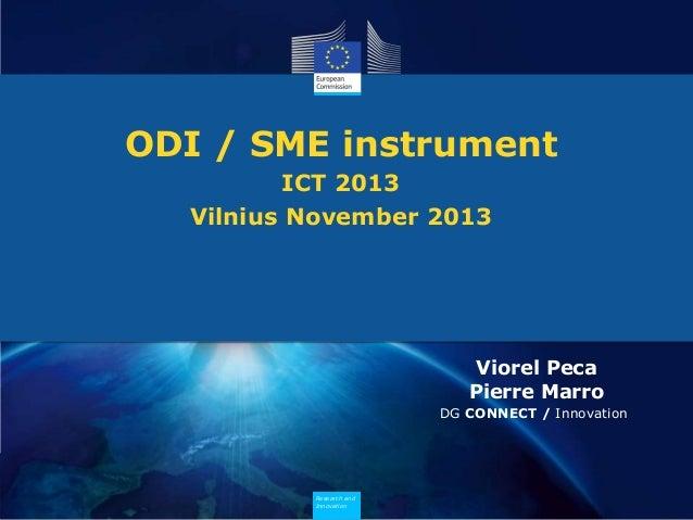 Open Disruptive Innovation SME instrument