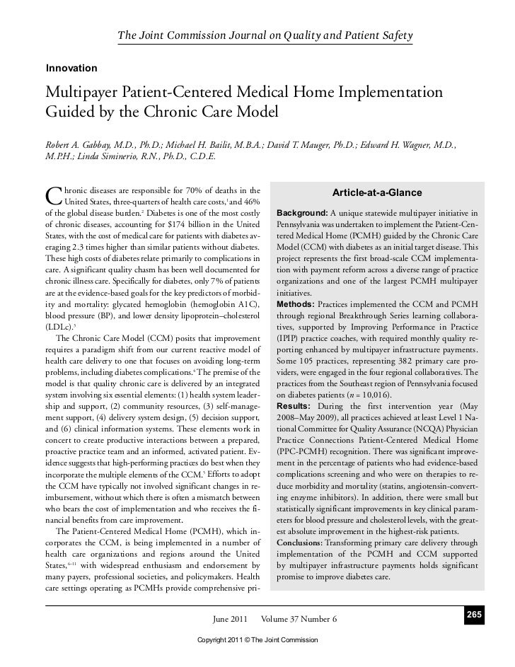 The Joint Commission Journal on Quality and Patient SafetyInnovationMultipayer Patient-Centered Medical Home Implementatio...