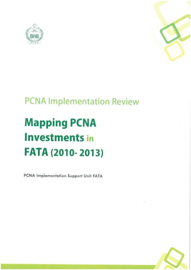 Mapping PCNA Investments in FATA (January 2014)