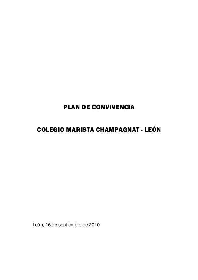 PLAN DE CONVIVENCIA  COLEGIO MARISTA CHAMPAGNAT - LEÓN (ESPAÑA)