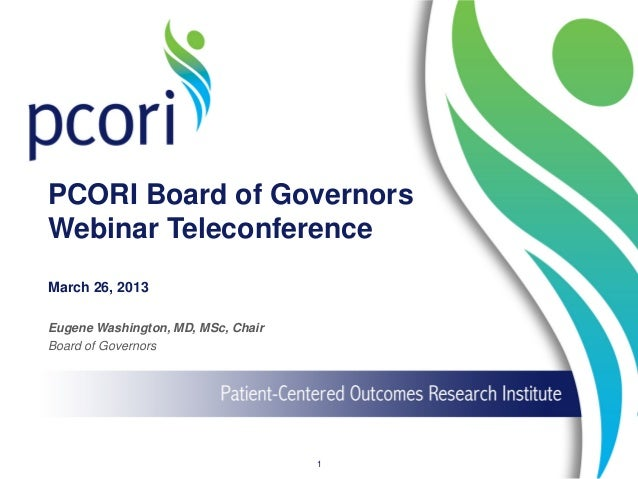 Board of Governors Webinar Teleconference