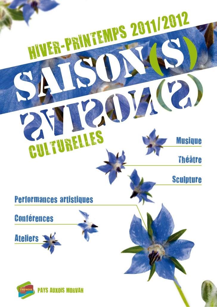 Programme culturel du Pays Auxois Morvan 2012