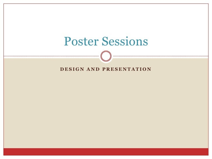 Pc poster sessions
