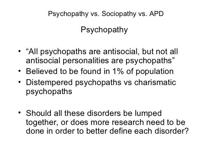 Psychopath Vs Sociopat...