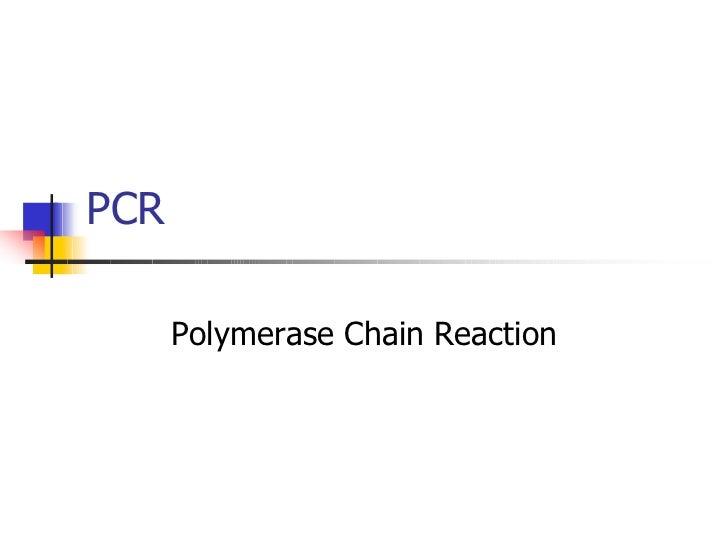 PCR PPT