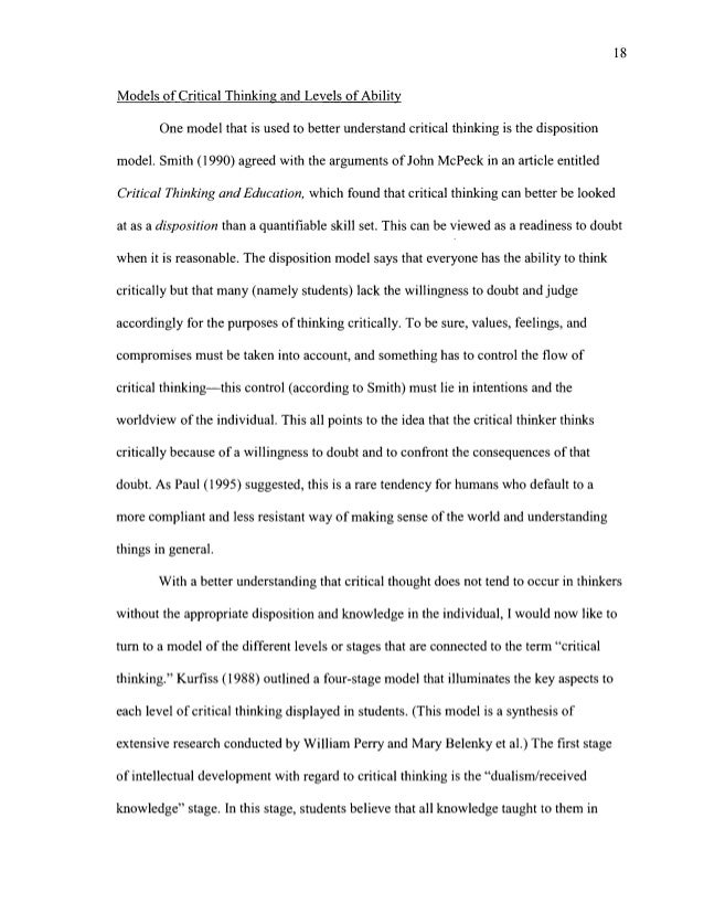what is a critical thinking essay