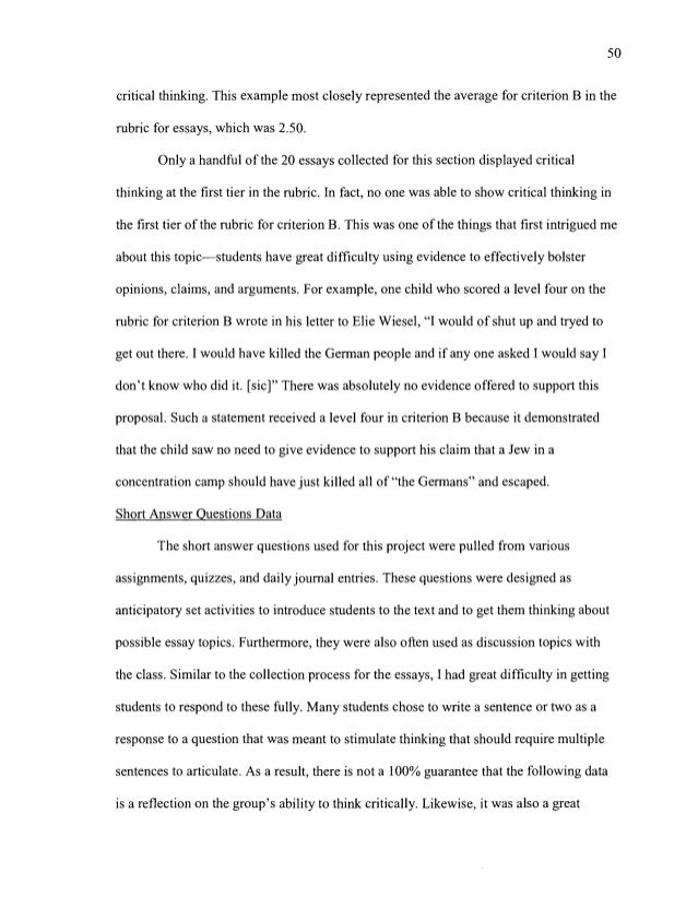 Critical thinking in nursing essay examples