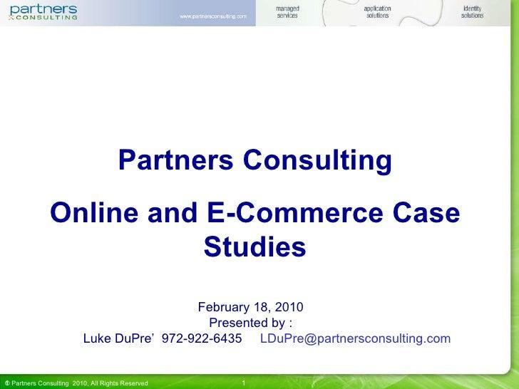 PCSG Online Case Studies