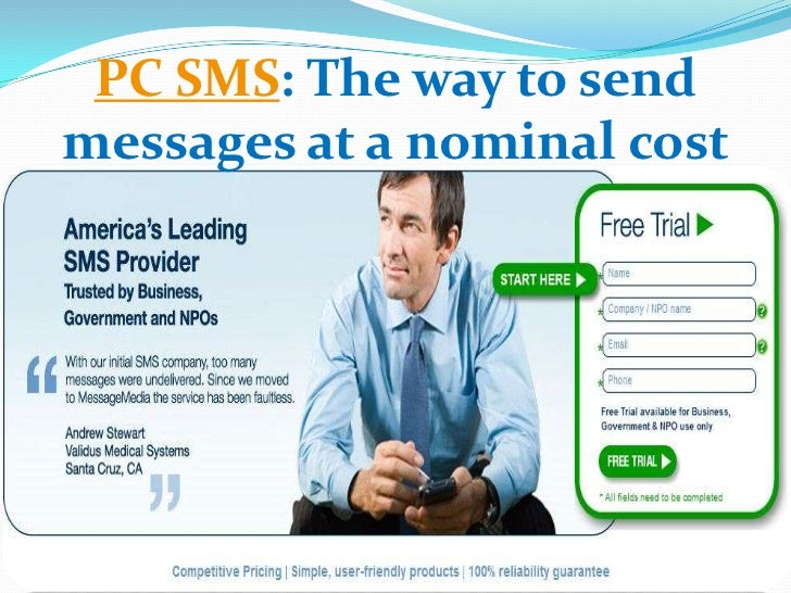 Pc sms the way to send messages at a nominal cost  message-media.com