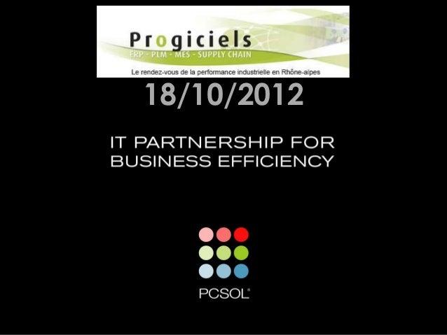 Maitriser l'incertitude des projets ERP - presentation annecy par PCSOL