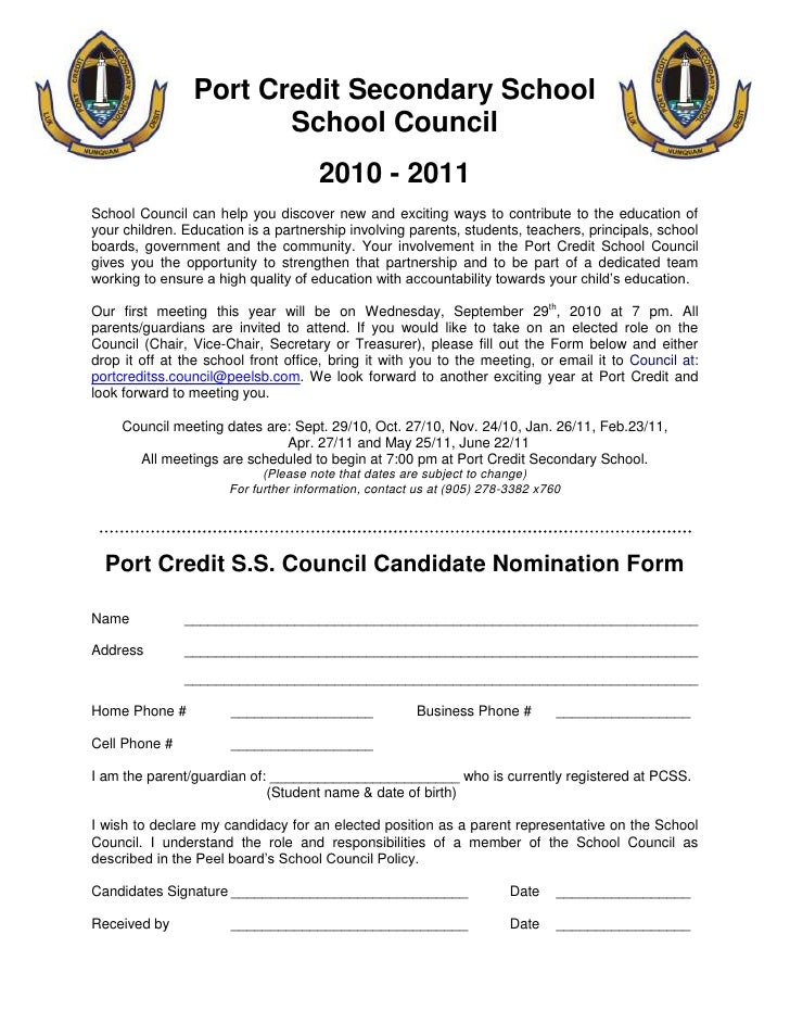 Port Credit Secondary School<br />School Council<br />2010 - 2011<br />School Council can help you discover new and exciti...