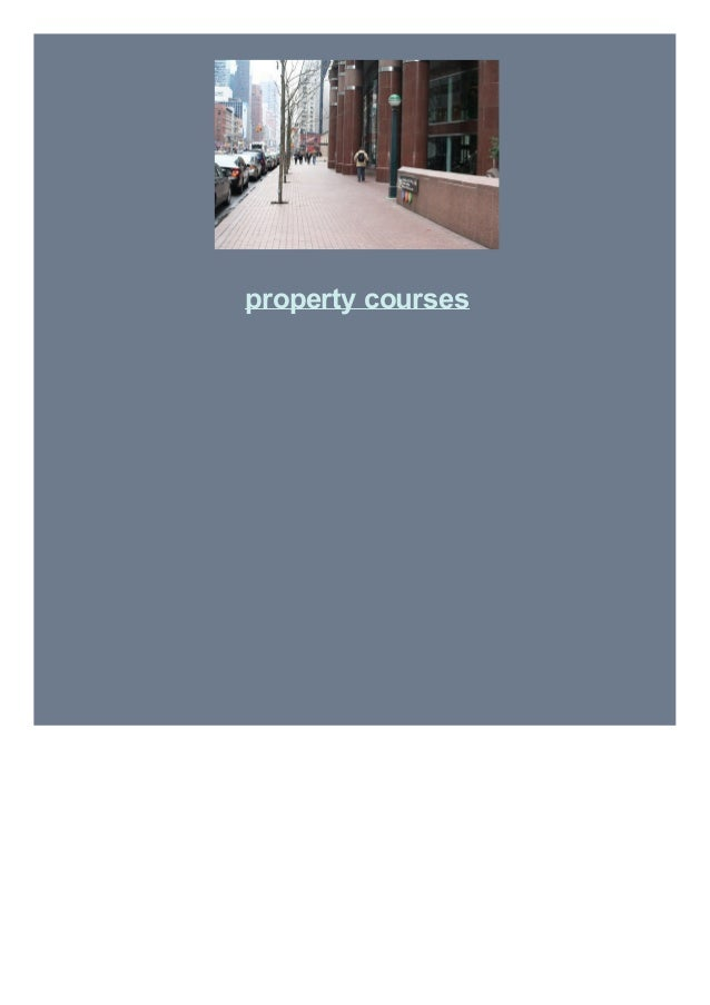 property courses