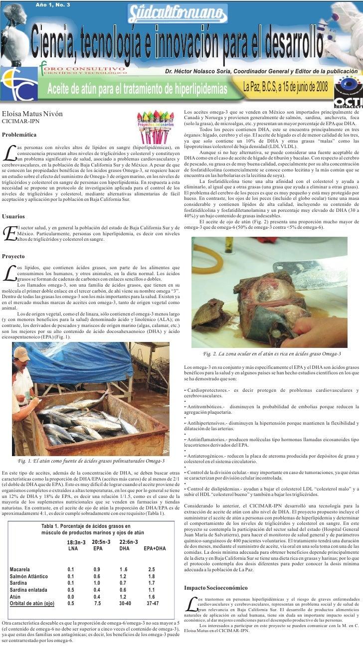 Pcti 03 Aceite De AtúN Para El Tratamiento De Hiperlipidemias