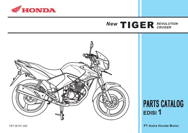 New   TIGER     REVOLUTION                                 CRUISER     TST 08 PC 005            PT Astra Honda Motor