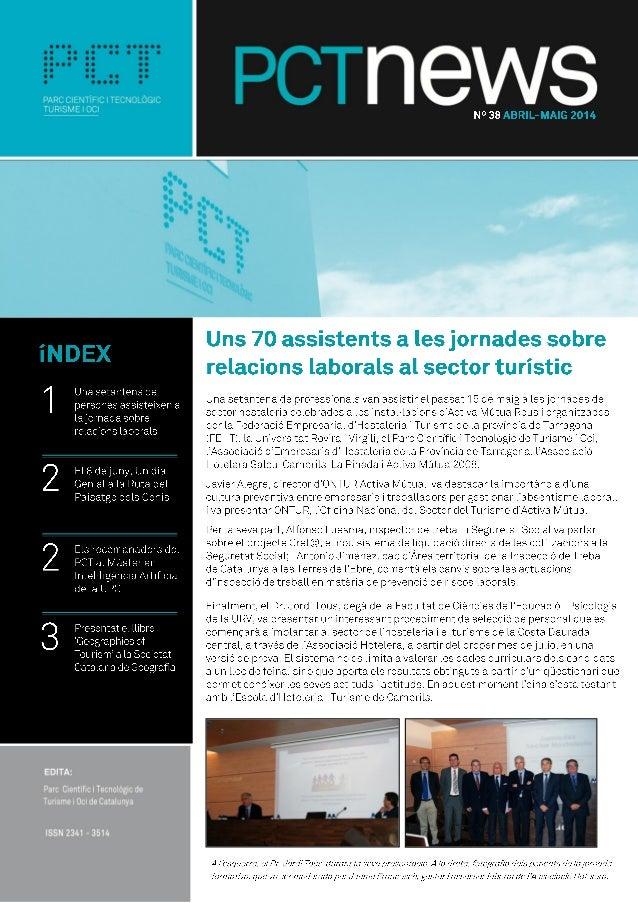 PCTnews 38 - el butlletí del PCT de Turisme i Oci de Catalunya