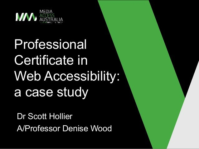 Professional Certificate in Web Accessibility case study