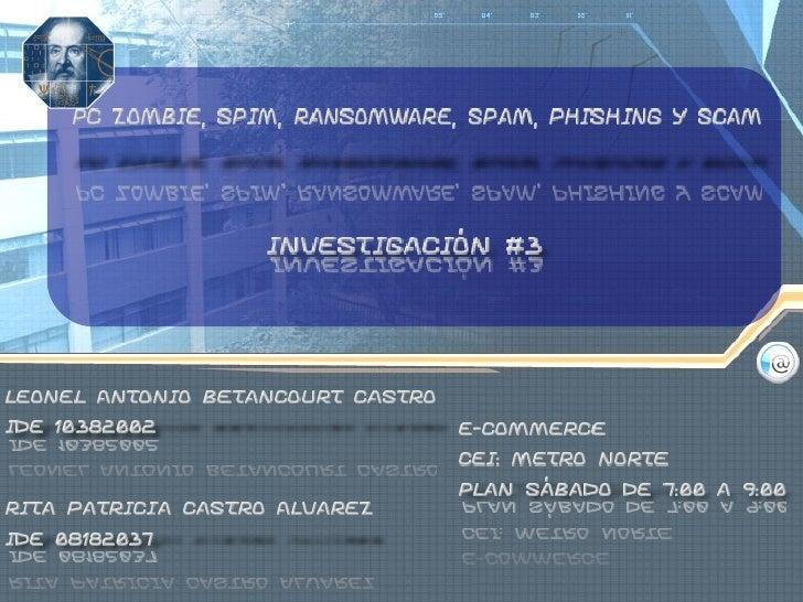 Pc zombie spim ransomware spam y scam