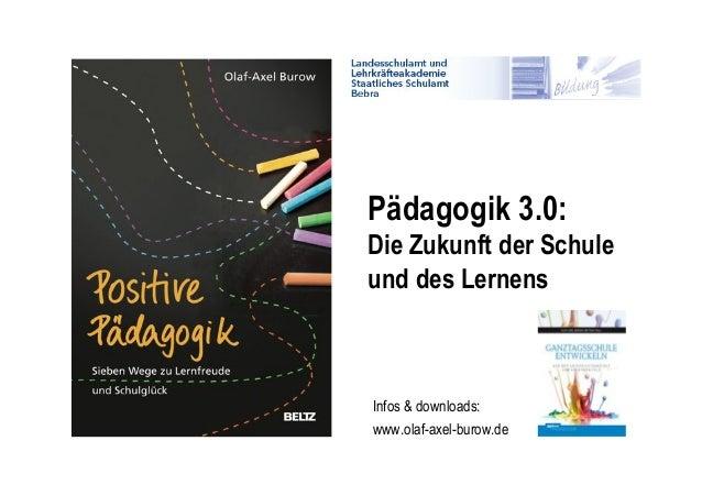 Pädagogik 3.0: Die Zukunft der Schule und des Lernens  Infos & downloads: www.olaf-axel-burow.de