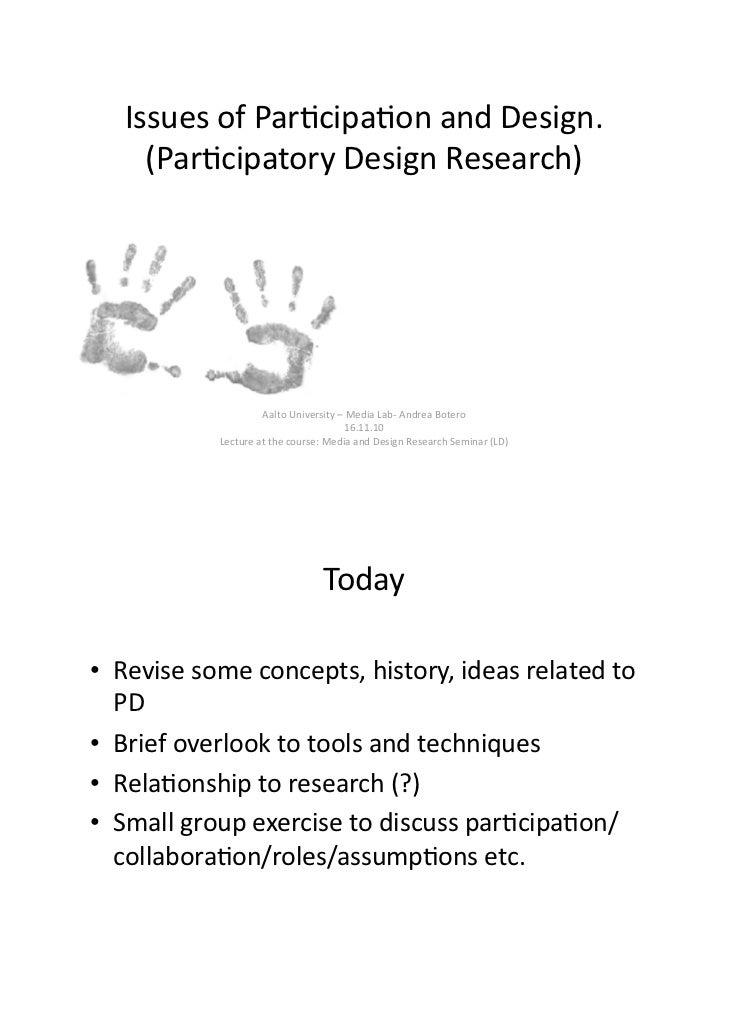 Participatory design (PD) intro