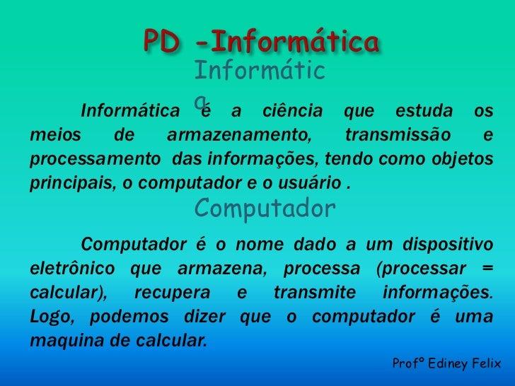Pd  informática