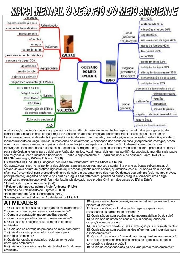 Mapa mental o desafio do meio ambiente1