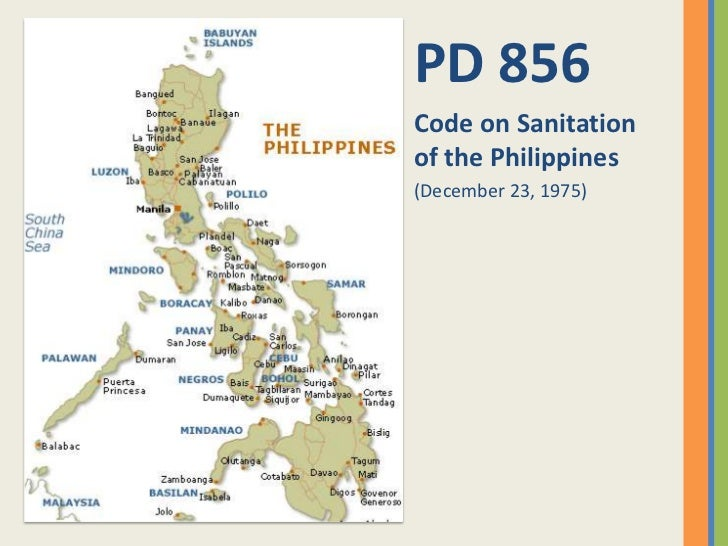 PD 856Code on Sanitationof the Philippines(December 23, 1975)