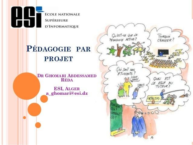 Pédagogie par projet ESI_Février 2012