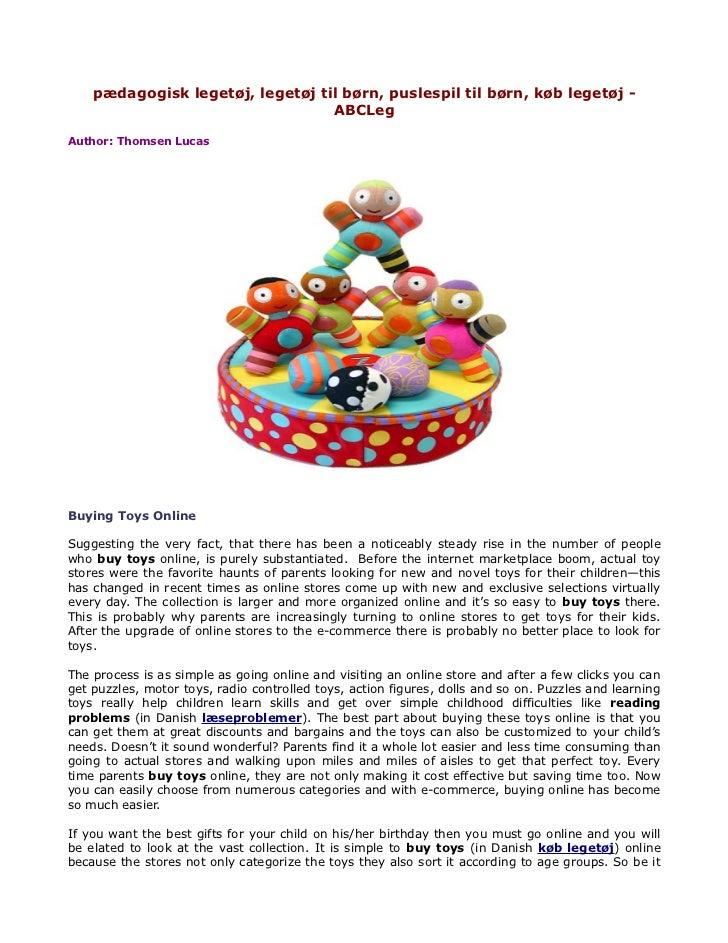 pædagogisk legetøj, legetøj til børn, puslespil til børn, køb legetøj -                                  ABCLegAuthor: Tho...