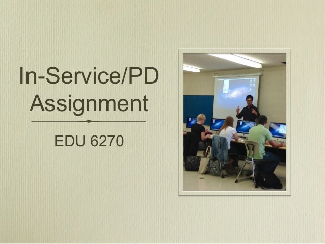 PD Assignment EDU 6720