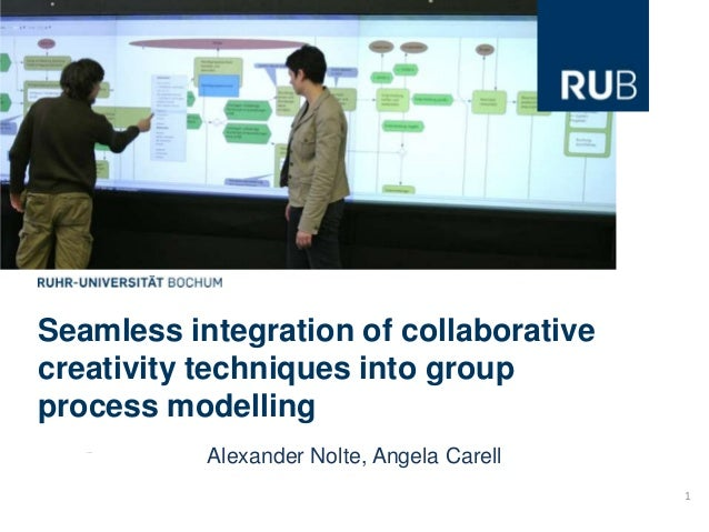 Seamless integration of collaborativecreativity techniques into groupprocess modelling           Alexander Nolte, Angela C...