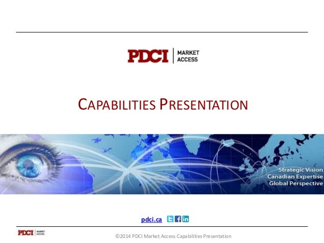 PDCI Capabilities and Services