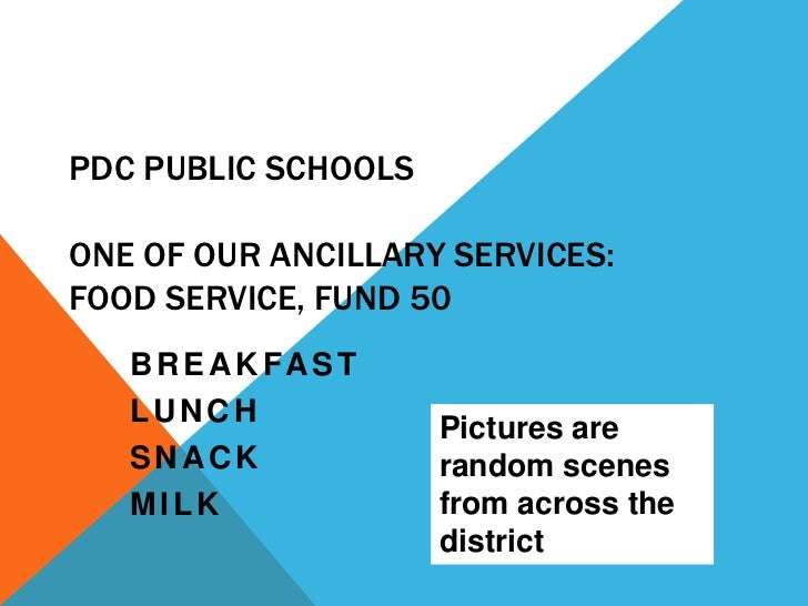 PdC public schools food service